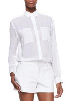 Long-Sleeve Button-Front Shirt   Long-Sleeve Button-Front Shirt