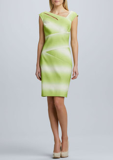 Kay Unger New York Ombre Asymmetric Cocktail Dress