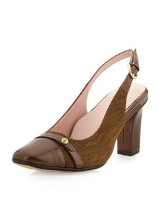 Taryn Rose Cabrini Slingback Pump, Brown