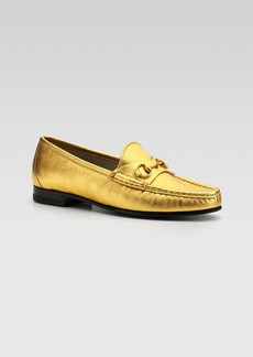 Gucci Frame Metallic Loafer