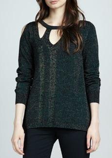 Nanette Lepore Warp Speed Shimmery Sweater