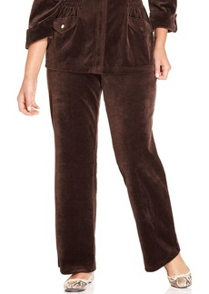 Charter Club Plus Size Velour Pull-On Pants
