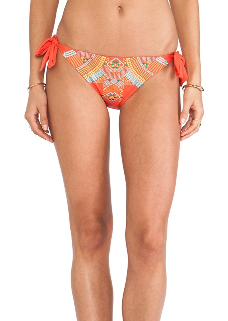 Nanette Lepore Mayan Riviera Vamp Bikini Bottoms in Red