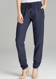 MICHAEL Michael Kors Linen Track Pants