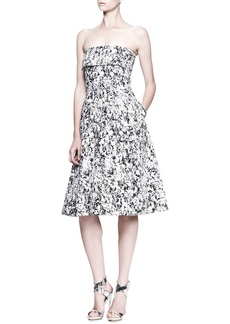 Jil Sander Fresco Printed Strapless Dress