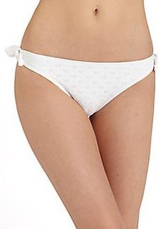 Shoshanna Eyelet-Bow Bikini Bottom