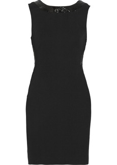 Diane von Furstenberg Ivina beaded lace-back crepe dress