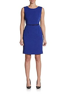 Calvin Klein Sleeveless Stretch-Crepe Sheath Dress