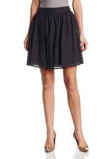 Calvin Klein Women's Striped A-Line Skirt