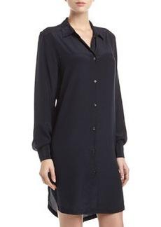 Paper Denim & Cloth Georgette Button-Front Shirt-Dress, Black