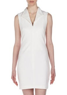 Catherine Malandrino Open-Back Ponte Dress, Ivory