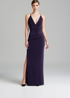 Laundry by Shelli Segal Gown - Glitzy Knit Twist Back Halter