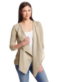 Calvin Klein Women's Flyaway Cardigan Sweater with Linen