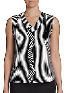 Calvin Klein Ruffled Striped Blouse