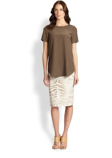 Lafayette 148 New York Printed Modern Slim Skirt