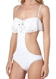 Roxy Gypsy Moon Bandeau Ruffle One-Piece Swimsuit - Women's