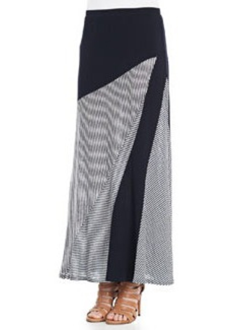Isda & Co Striped A-Line Maxi Skirt