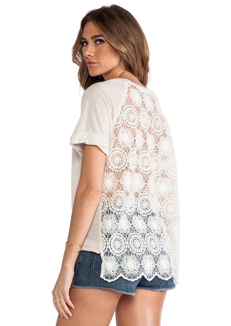 Ella Moss Hanalei Crochet Back Top in Cream