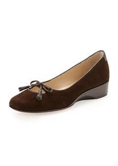 Taryn Rose Katelyn Suede Wedge, Chocolate