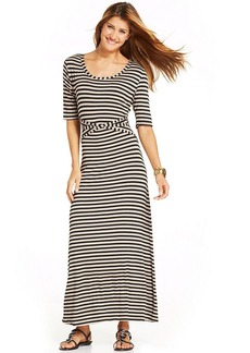 Style&co. Short-Sleeve Striped Maxi Dress