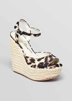 Alice + Olivia Open Toe Platform Espadrille Wedge Sandals - Stella