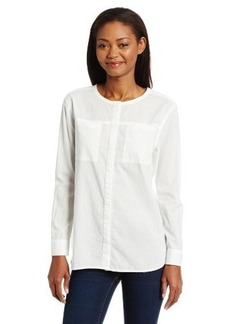 Calvin Klein Jeans Women's Long Sleeve Clean Pocket Shirt