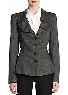 Zac Posen Pleated Collar Jacket