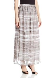 Calvin Klein Women's Print Pintuck Maxi Skirt