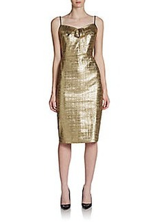 DKNY Two-Tone Spaghetti-Strap Sheath Dress