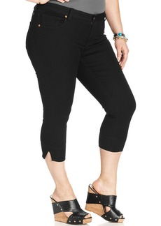 Lucky Brand Plus Size Ginger Capri Jeans, Black Wash