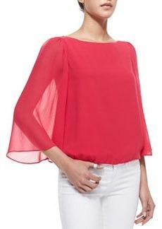 Katelyn Sheer-Bell-Sleeve Top, Pink   Katelyn Sheer-Bell-Sleeve Top, Pink