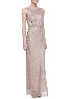 Laundry by Shelli Segal Lace Sleeveless Tank Gown