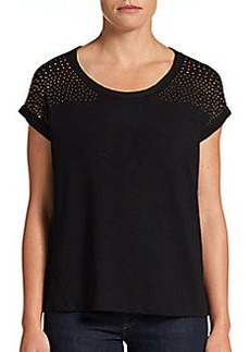 Ellen Tracy Embellished Knit Top