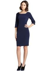 Elie Tahari navy sapphire three quarter sleeve 'Mitsy' dress