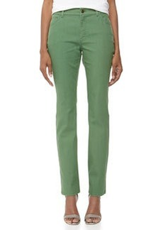 Lafayette 148 New York Bella Curvy Slim Jeans, Emerald