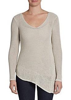 Joan Vass Studio V-Neck Knit Pullover