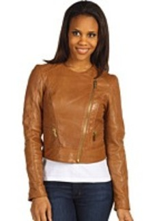 MICHAEL Michael Kors Leather Biker Jacket w/ Qlt