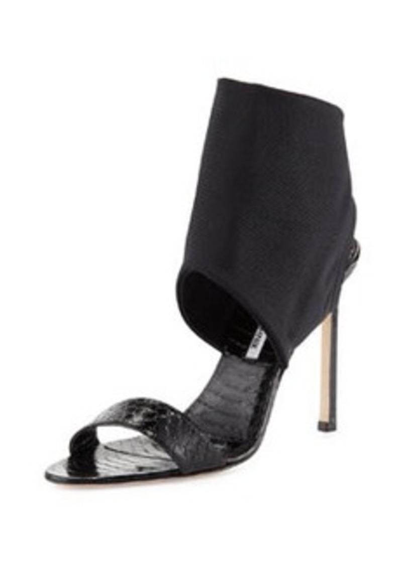 Saccopen Snake Ankle-Wrap Sandal, Black   Saccopen Snake Ankle-Wrap Sandal, Black