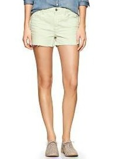 1969 stud raw-edge maddie denim shorts