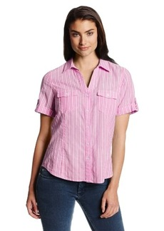 Jones New York Women's Short Sleeve Camp Shirt