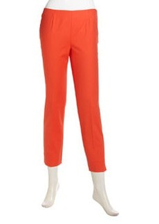 Lafayette 148 New York Cropped Pocket-Free Ankle Pants, Dayglow