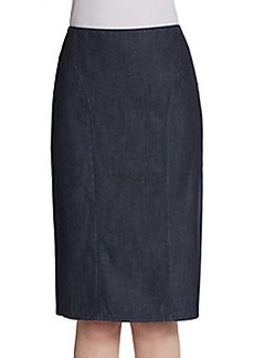 Lafayette 148 New York Denim Pencil Skirt