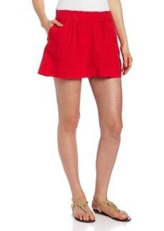 Michael Stars Women's Linen Mini Flare Skirt