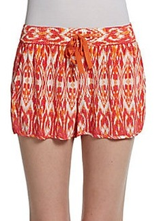 Joie Layana Ikat Silk Shorts