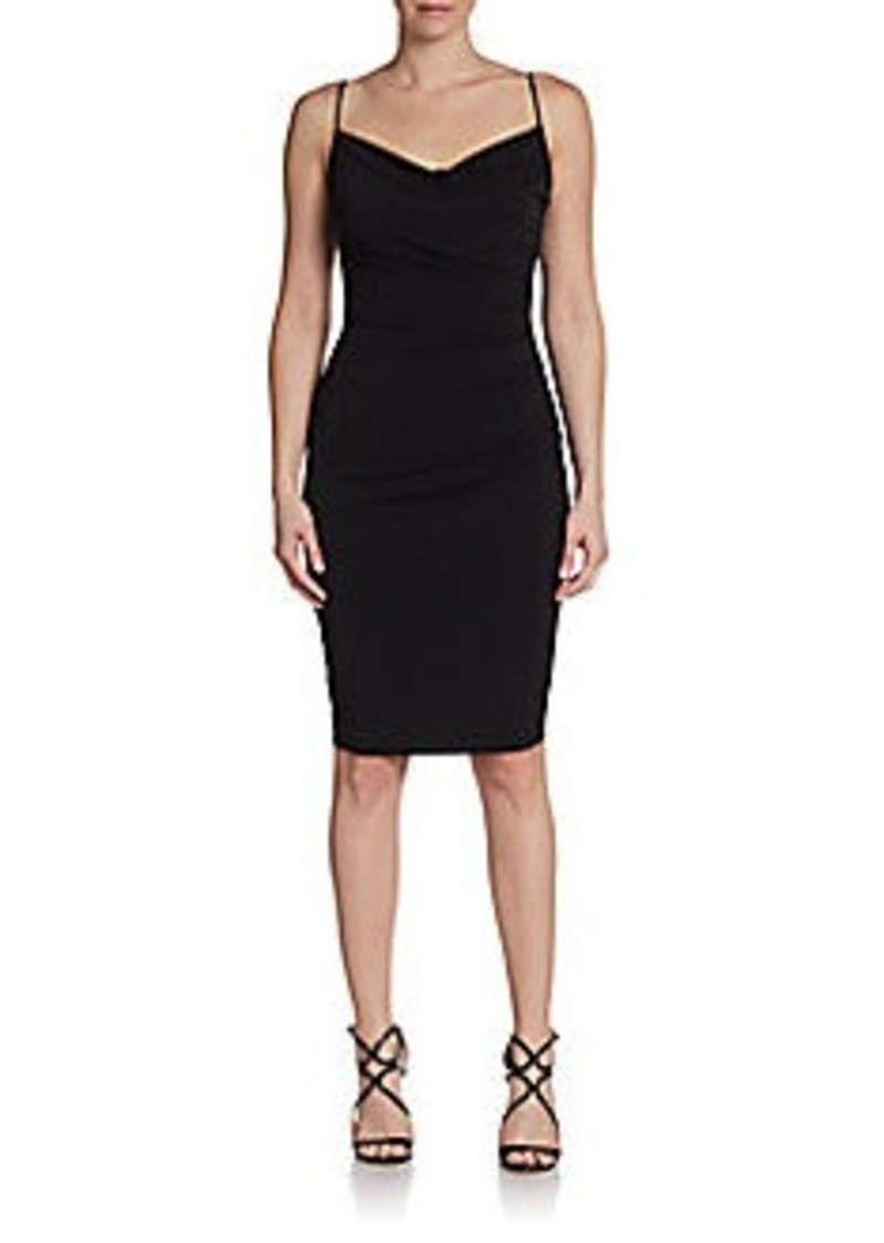 David Meister Ruched Jersey Sheath Dress