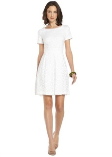 Tahari white lace 'Glenda' short sleeve dress