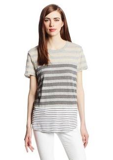 Michael Stars Women's Parisian Stripe Short-Sleeve Crew-Neck T-Shirt