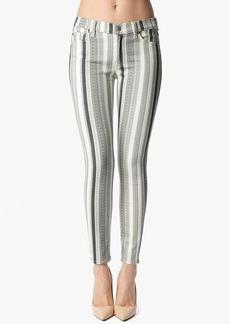 """The Ankle Skinny in Multi Grey Stripe (28"""" Inseam)"""