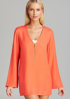MICHAEL Michael Kors Linked Solids Tunic Swim Cover Up