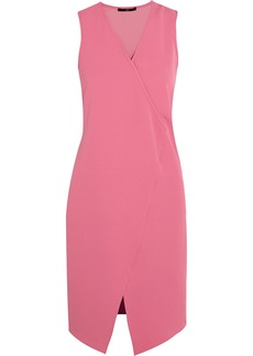 Tibi Wrap-effect crepe dress
